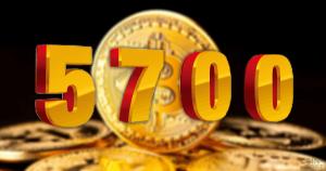 非公開: BTCテクニカルアナリスト:ビットコイン下落相場の底は5700ドル(約62万円)と分析
