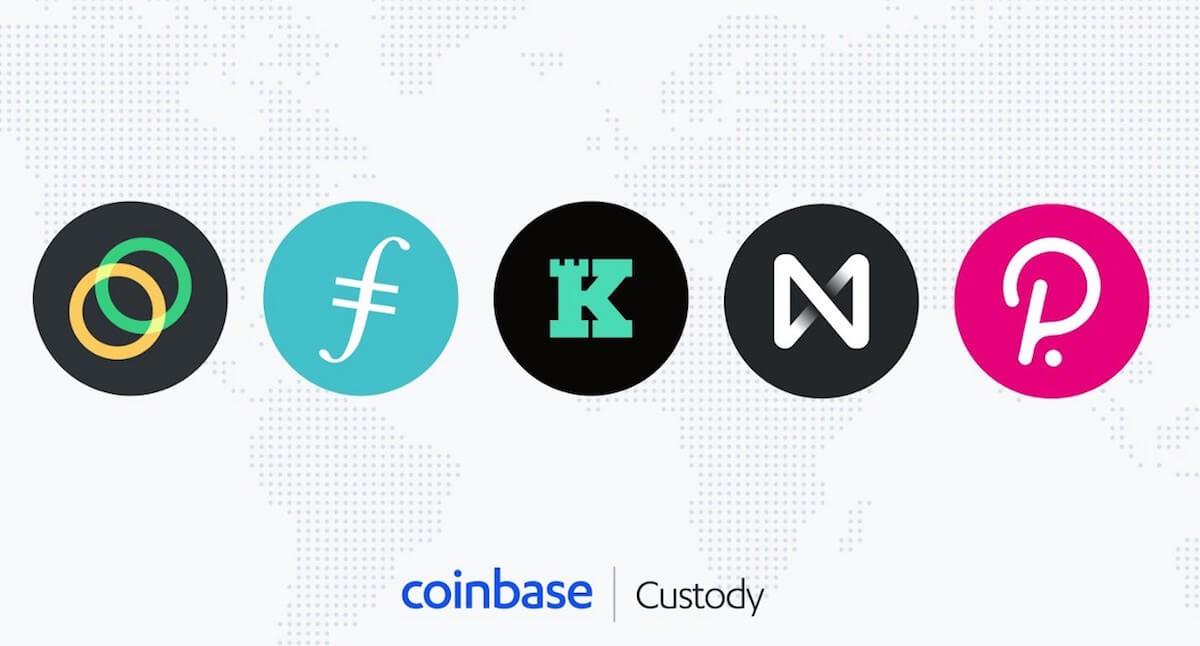 米コインベースカストディ、仮想通貨ポルカドットを含む5銘柄を新たにサポート