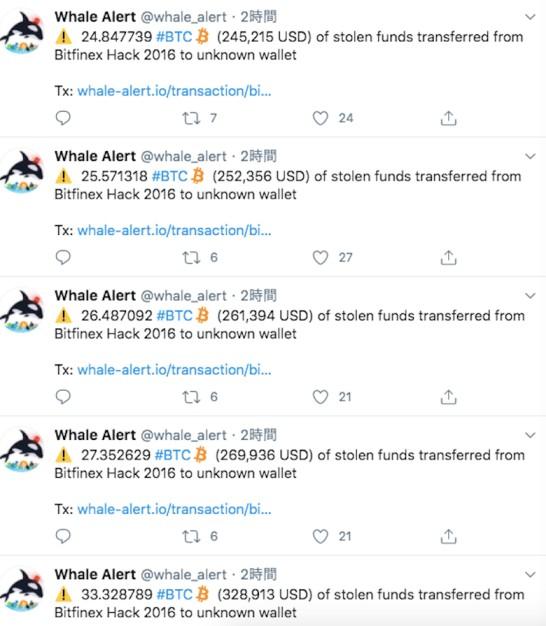 巨大ビットコインクジラに不可解な動き 億円相当が複数ウォレットに送金される   CoinPartner(コインパートナー)